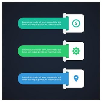 Modèle infographique infographic bandeau d'options