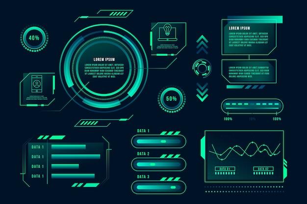 Modèle infographique innovant