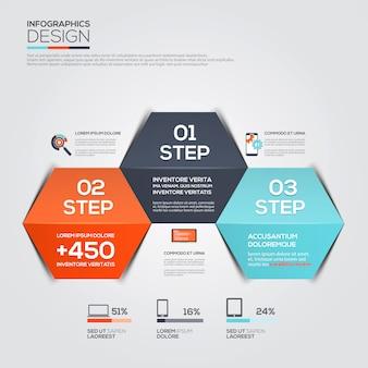 Modèle infographique minimal moderne