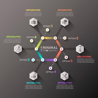 Modèle infographique minimal