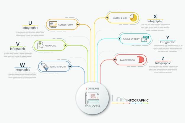 Modèle infographique moderne