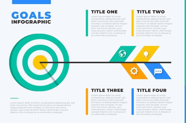 Modèle infographique d'objectifs