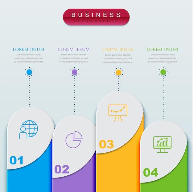 Modèle infographique de présentation entreprise