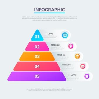 Modèle infographique de pyramide