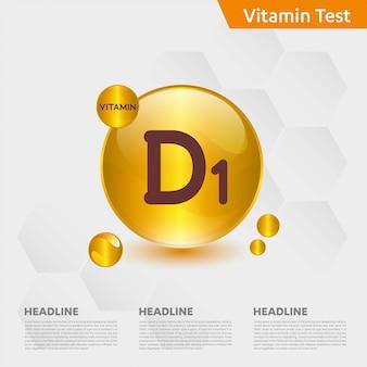 Modèle infographique de vitamine d1