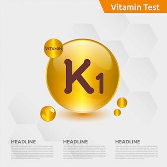 Modèle infographique de vitamine k1