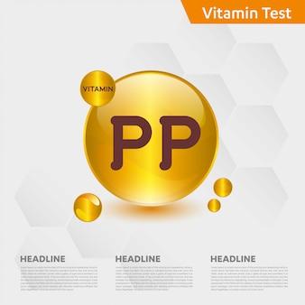Modèle infographique de vitamine pp