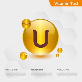 Modèle infographique de vitamine u