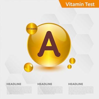 Modèle infographique de vitamine a