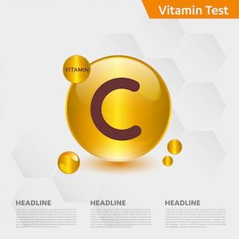 Modèle infographique de vitamine c
