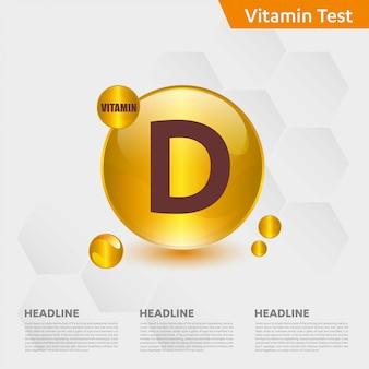 Modèle infographique de vitamine d