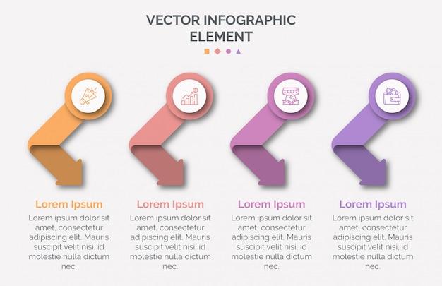 Modèle infographique