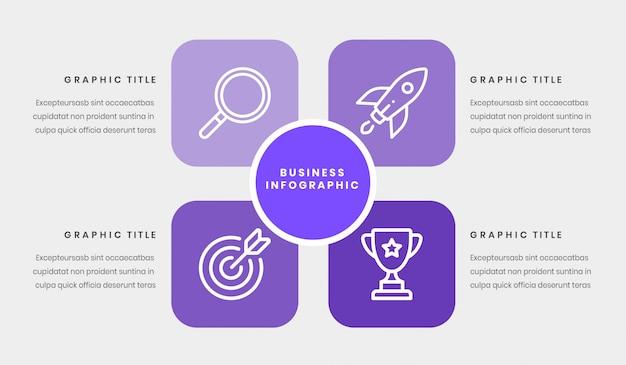 Modèle infograpique d'entreprise