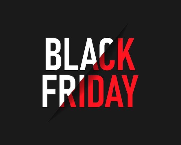 Modèle d'inscription de vente black friday. bannière du vendredi noir. vecteur eps10