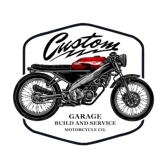 Modèle d'insigne de moto personnalisé vintage