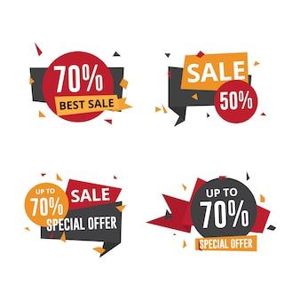 Modèle d'insignes d'étiquettes de grande vente
