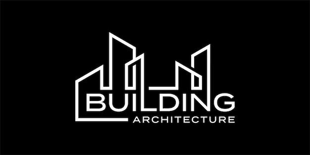 Modèle d'inspiration de conception de logo de marque de mot d'architecture de bâtiment