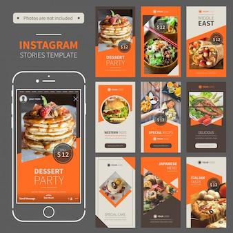 Modèle instagram histoires de restaurant