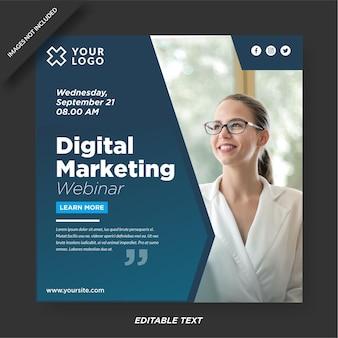 Modèle instagram de marketing d'agence numérique