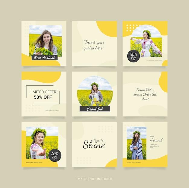 Modèle instagram de mode femme puzzle post