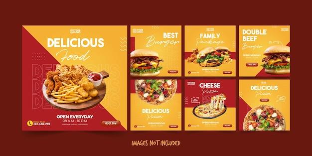 Modèle instagram de nourriture savoureuse