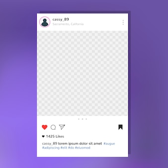 Modèle instagram post frame