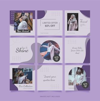 Modèle instagram post puzzel fashion women. conception de médias sociaux