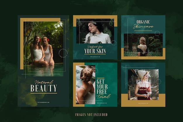 Modèle instagram de spa de beauté minimaliste de luxe