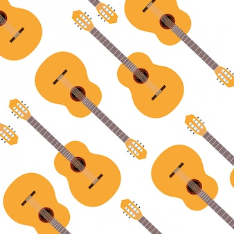 Modèle d'instrument de musique de guitare
