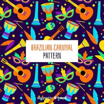 Modèle d'instruments de carnaval brésilien
