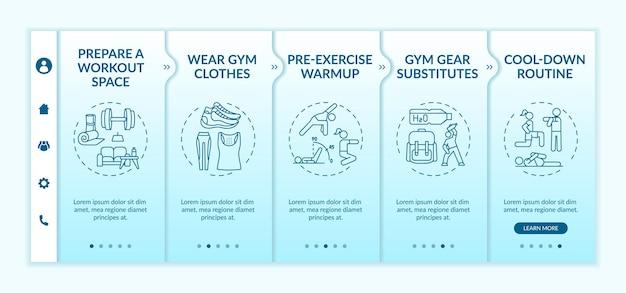 Modèle d'intégration de conseils d'entraînement physique à domicile