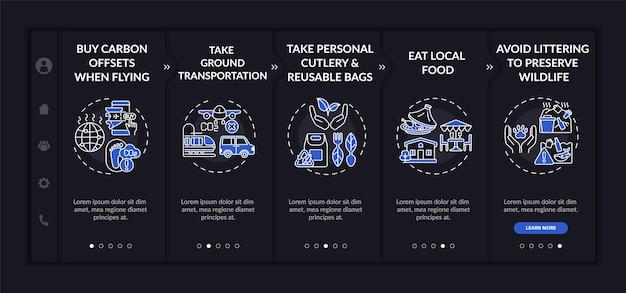 Modèle d'intégration de conseils de tournée durable