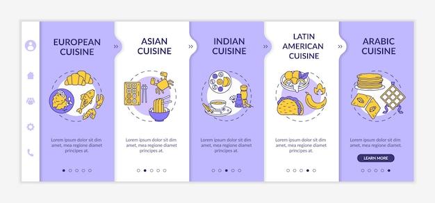 Modèle d'intégration de la cuisine nationale