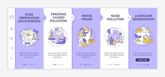 Modèle d'intégration du monde sans fossiles. justice climatique. site web mobile réactif avec des icônes. sauvez notre environnement. présentation de la page web en 5 écrans.