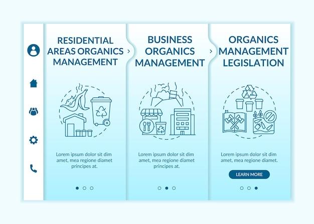 Modèle D'intégration Des Initiatives De Réacheminement Des Déchets Biodégradables Vecteur Premium