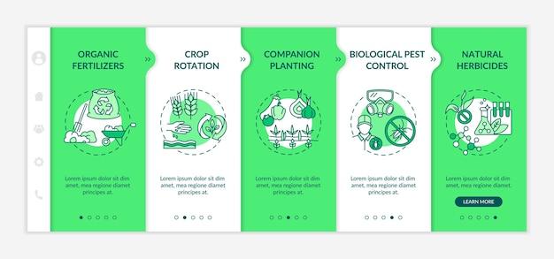 Modèle d'intégration des principes de l'agriculture biologique