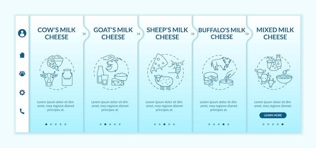 Modèle d'intégration de la production de fromage. industrie laitière.