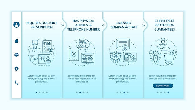 Modèle d'intégration de signes de pharmacie en ligne sûrs