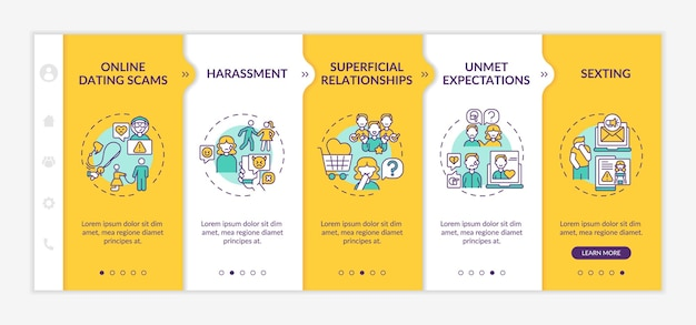 Modèle d'intégration de site web contre les rencontres en ligne