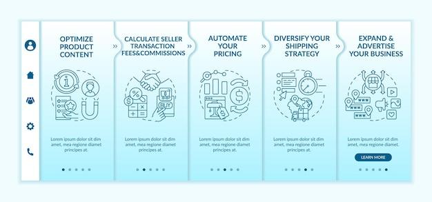 Modèle d'intégration de succès sur le marché en ligne