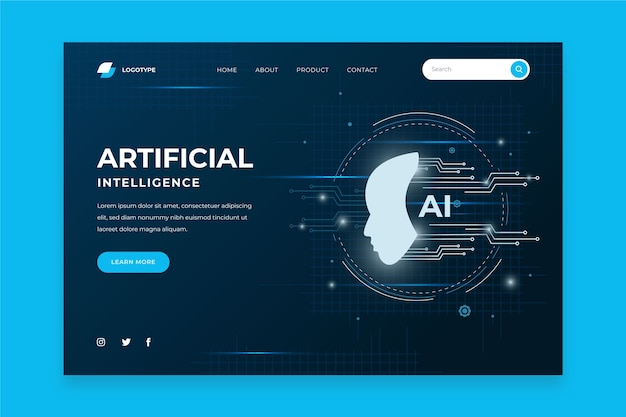 Modèle d'intelligence artificielle de page de destination