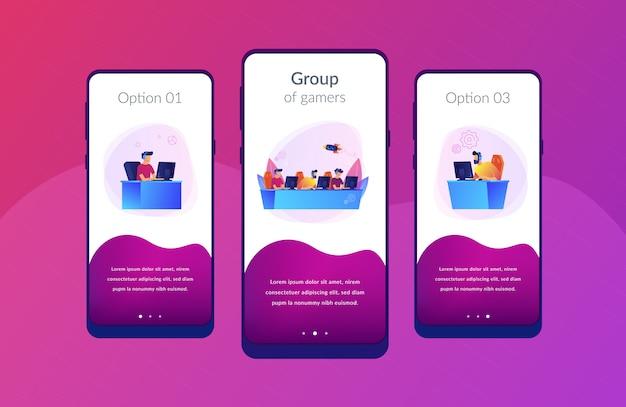 Modèle d'interface d'application équipe e-sport.