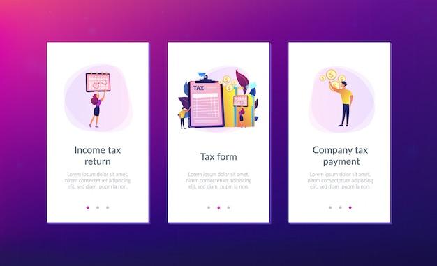 Modèle d'interface d'application de formulaire d'impôt