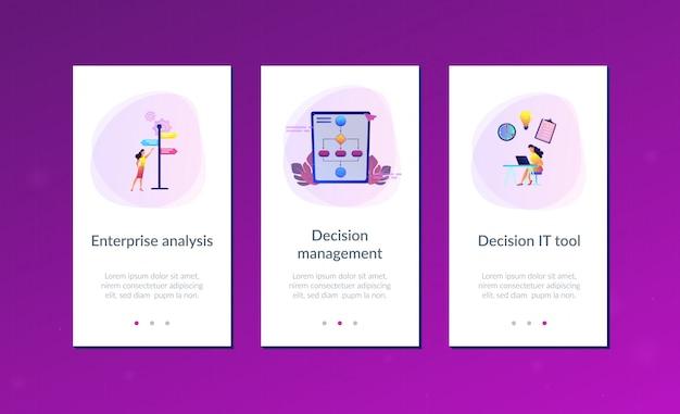 Modèle d'interface d'application de gestion de décision