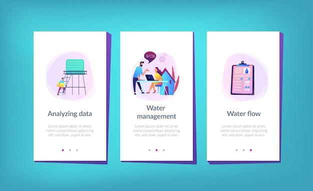 Modèle d'interface d'application de gestion intelligente de l'eau.