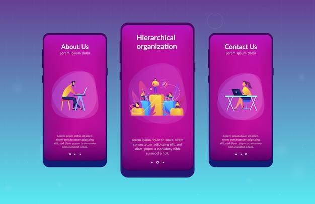 Modèle d'interface d'application de hiérarchie métier