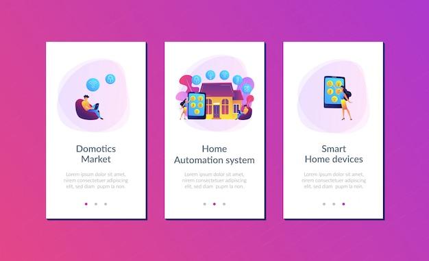 Modèle d'interface d'application maison intelligente.