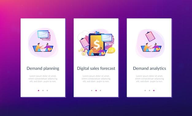 Modèle d'interface d'application de planification de la demande