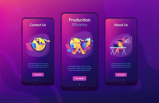Modèle d'interface d'application de productivité