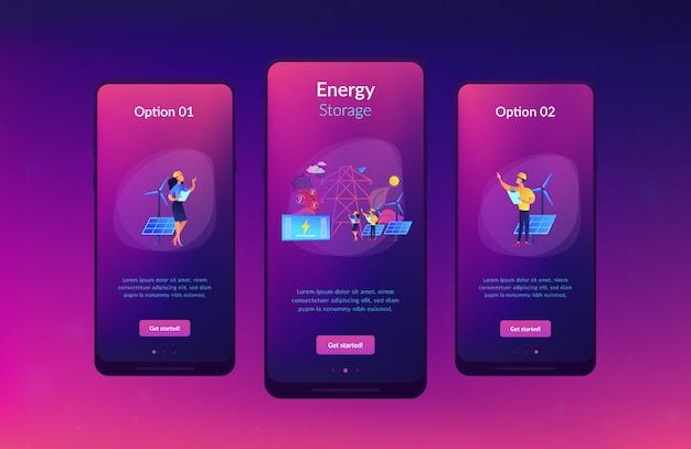 Modèle d'interface d'application de stockage d'énergie.